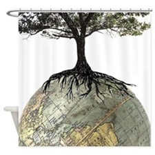 Tree Globe Shower Curtain