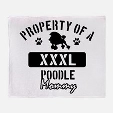 Poodle Mommy Throw Blanket