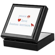 Peace, Love & Boston Terriers Keepsake Box