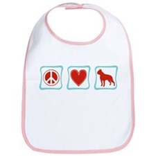 Peace, Love & Boston Terriers Bib