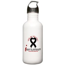 With All My Heart Melanoma Water Bottle