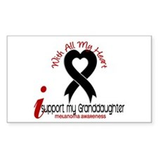 With All My Heart Melanoma Decal