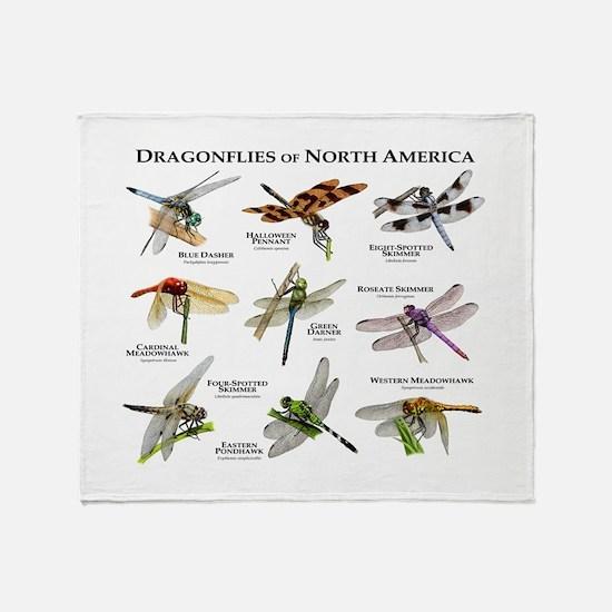 Dragonflies of North America Throw Blanket