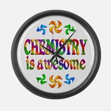Chemistry is Awesome Large Wall Clock