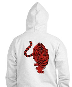 Red Tiger Icon Hoodie