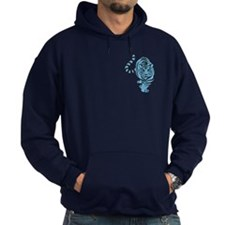 Blue Tiger Icon Hoodie