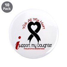 "With All My Heart Melanoma 3.5"" Button (10 pack)"