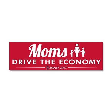 Moms Drive Economy Car Magnet 10 x 3