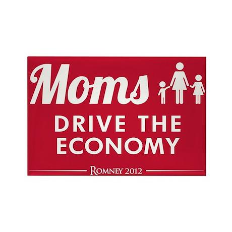 Moms Drive Economy Rectangle Magnet
