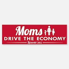 Moms Drive Economy Sticker (Bumper)
