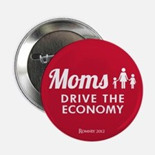 """Moms Drive Economy 2.25"""" Button (10 pack)"""