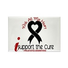 With All My Heart Melanoma Rectangle Magnet