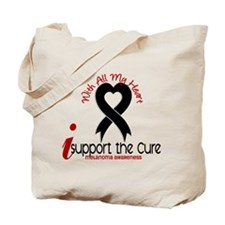 With All My Heart Melanoma Tote Bag