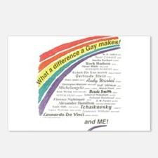 Famous Gays Shirt Postcards (Package of 8)