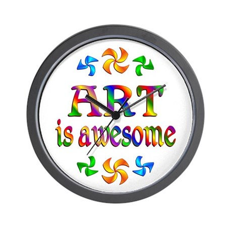 Art is Awesome Wall Clock