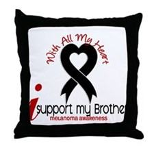 With All My Heart Melanoma Throw Pillow