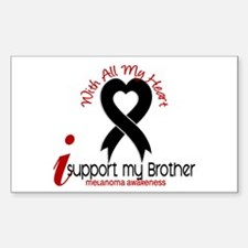 With All My Heart Melanoma Sticker (Rectangle)