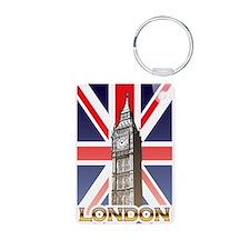 London Aluminum Photo Keychain