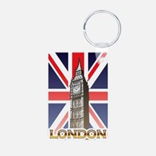 London Aluminum Photo Keychain