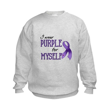 Wear Purple - Myself Kids Sweatshirt