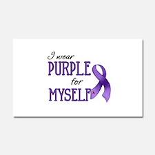 Wear Purple - Myself Car Magnet 20 x 12