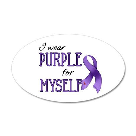 Wear Purple - Myself 38.5 x 24.5 Oval Wall Peel