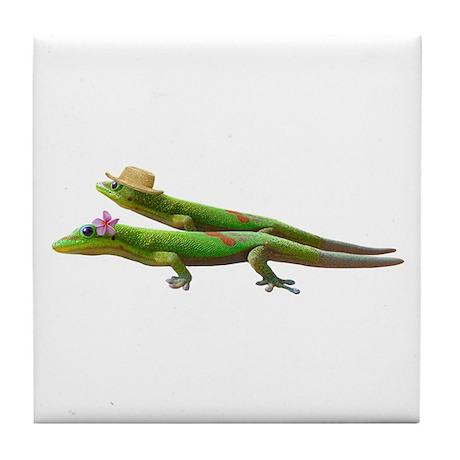 Hawaiian Geckos Tile Coaster