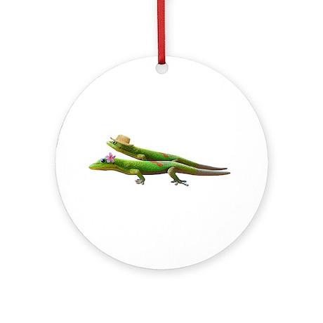 Hawaiian Geckos Ornament (Round)