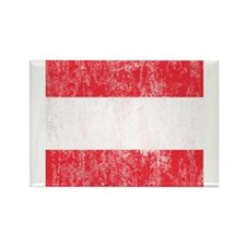 Vintage Austrian Flag Rectangle Magnet