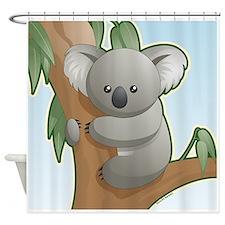 Kawaii Koala Shower Curtain