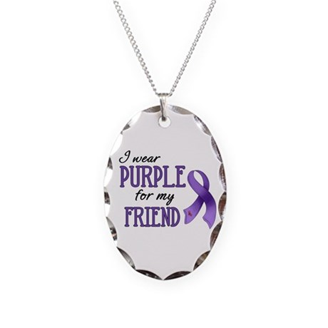Wear Purple - Friend Necklace Oval Charm