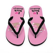 I Love Sock Monkeys Flip Flops