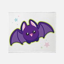 Kawaii Bat Throw Blanket