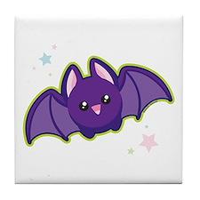 Kawaii Bat Tile Coaster