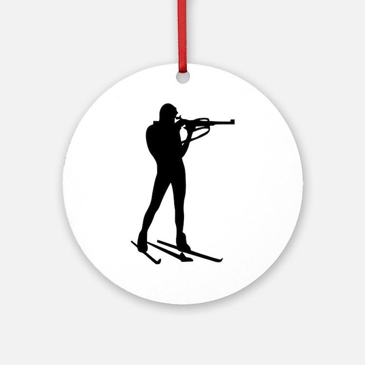 Biathlon Ornament (Round)
