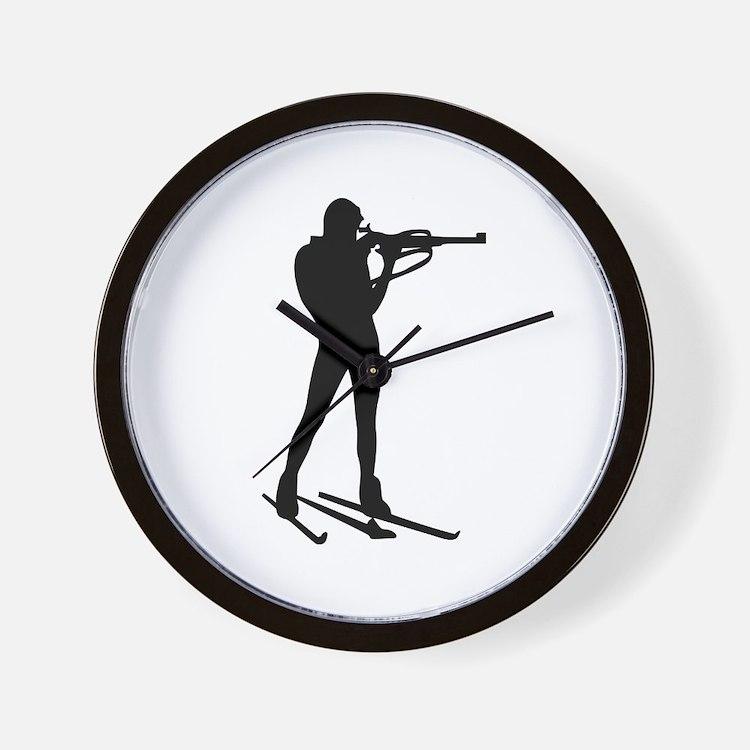 Biathlon Wall Clock
