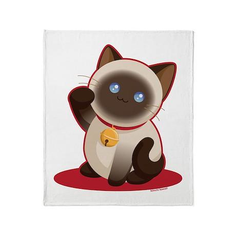 Lucky Cat Throw Blanket
