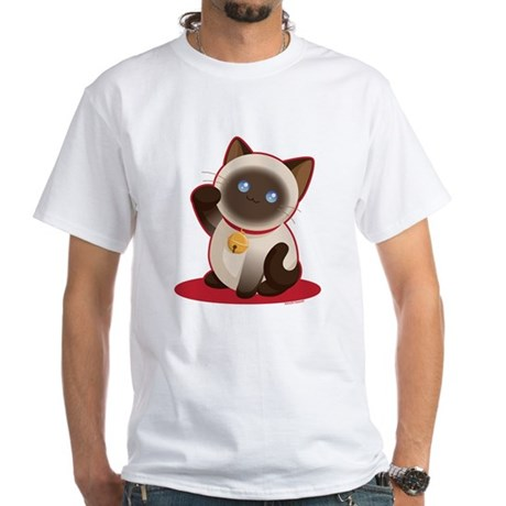 Lucky Cat White T-Shirt