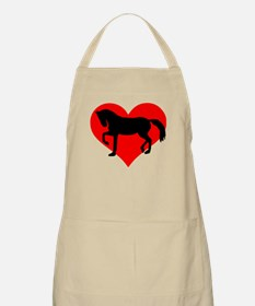 Red heart horse Apron