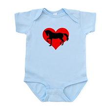Red heart horse Infant Bodysuit