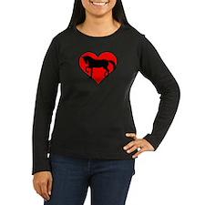 Red heart horse T-Shirt