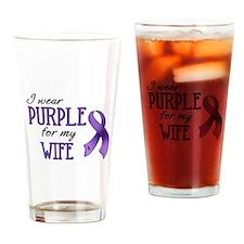 Wear Purple - Wife Drinking Glass
