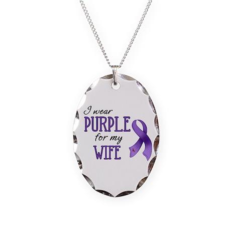 Wear Purple - Wife Necklace Oval Charm