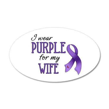 Wear Purple - Wife 38.5 x 24.5 Oval Wall Peel