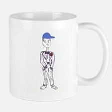 Black Baseball Cap Groom Mug