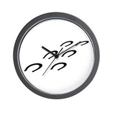 Horseshoes Wall Clock