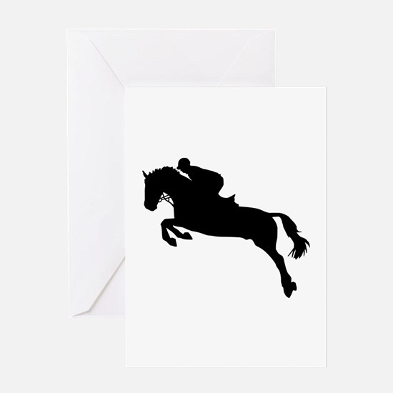 Horse show jumping Greeting Card