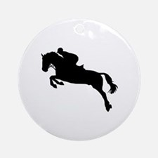 Horse show jumping Ornament (Round)
