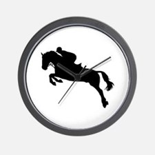 Horse show jumping Wall Clock