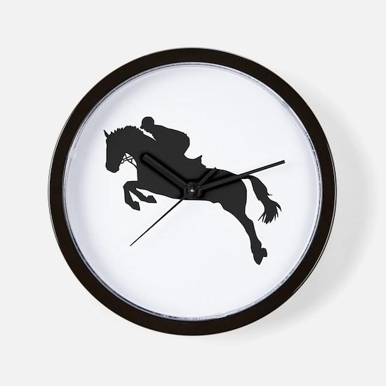 Horse show jumping Wall Clock